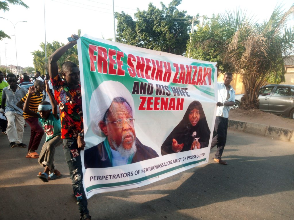 Selected Pictures From Free Zakzaky Protest