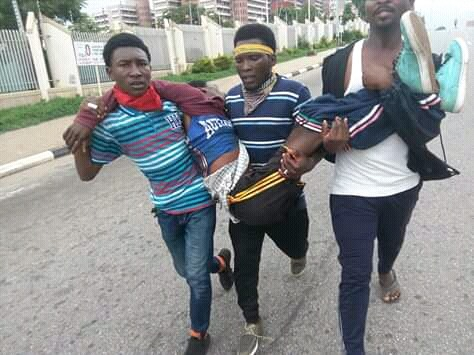Again: Police shot mercilessly on peaceful protesters in Abuja