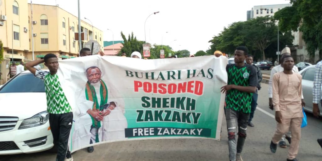 Pictures of #FreeZakzaky protest in Abuja on 24th July 2019