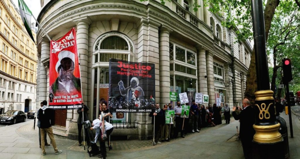 #FreeZakzaky Sit-in From Nigeria High Commission In UK