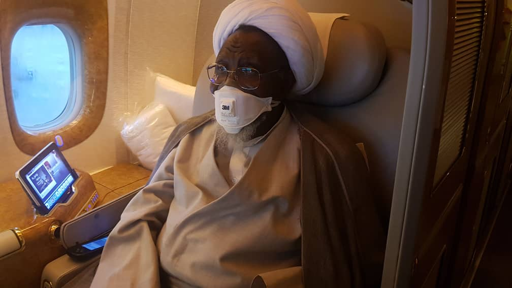 Sheikh Zakzaky left Abuja for medical treatment in India