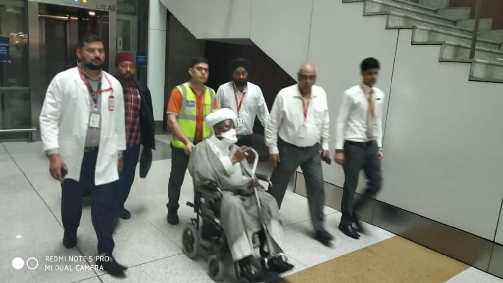Update: Sheikh Zakzaky arrived in Delhi, India