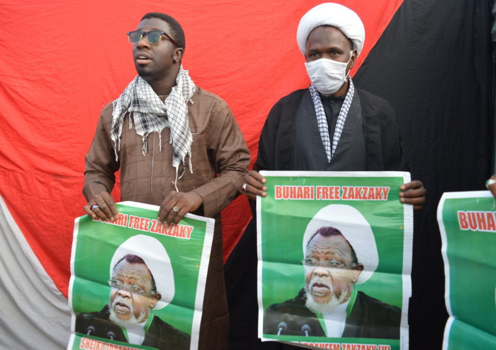 Islamic Movement In Nigeria Fly The Flag In Solidarity With Palestine